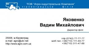 Пример корпоративной визитки