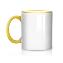 Желтая чашка