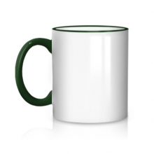 Темно-зеленая чашка