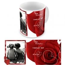 Макет чашки ''Красное и черное''