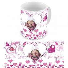 Макет чашки ''Pink heart''